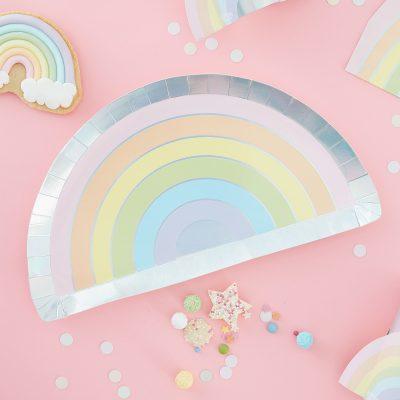 Bordjes regenboog pastel 2